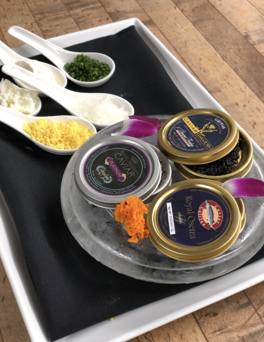 Colorado Traveler Magazine Newsletter: Flagstaff House Caviar Tasting Flight