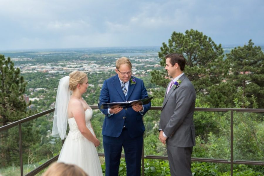 Boulder Elopement Photographer with Lauren & Ben at the Flagstaff House and Lost Gulch Overlook in Boulder, Colorado